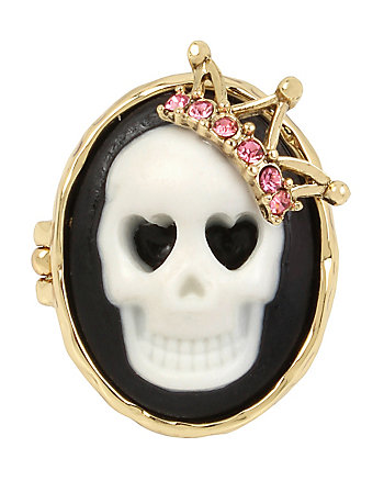 SKELETONS AFTER DARK CAMEO SKULL RING
