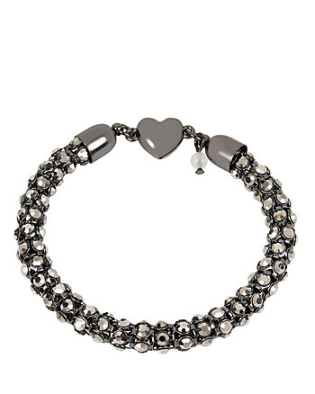 SKELETONS AFTER DARK HEART MAGNETIC BRACELET