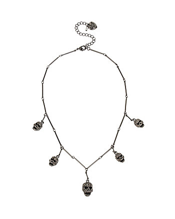 SKELETONS AFTER DARK MULTI SKULL NECKLACE