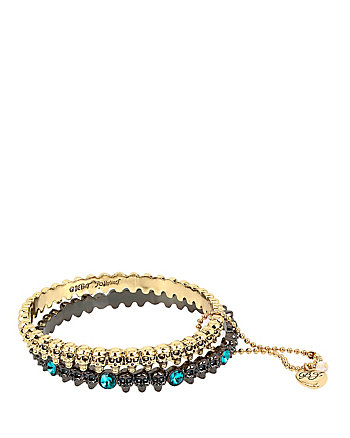 SKELETONS AFTER DARK SKULL BANGLE SET
