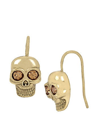 SKELETONS AFTER DARK SKULL DROP EARRINGS