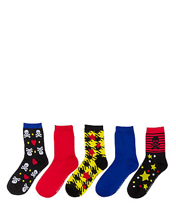SKULLRAGOUS CREW SOCK FIVE PACK