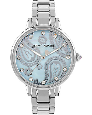 SLIM SOPHISTICATES PAISLEY SILVER WATCH