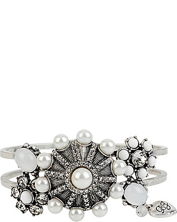 SOMETHING NEW FLOWER HINGE BANGLE