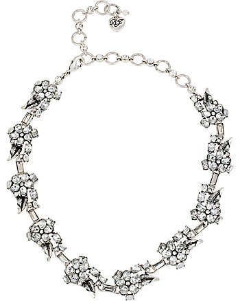 SOMETHING NEW FLOWER RHINESTONE COLLAR
