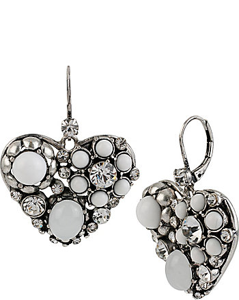 SOMETHING NEW HEART DROP EARRINGS