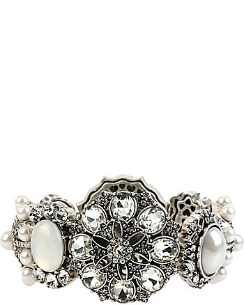 SOMETHING NEW RHINESTONE STRETCH BRACELET