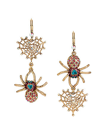 SPIDER LUX WEB AND SPIDER EARRINGS