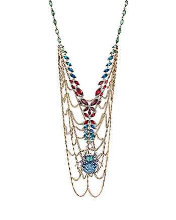 SPIDER LUX WEB BIB NECKLACE