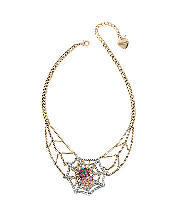 SPIDER LUX WEB NECKLACE