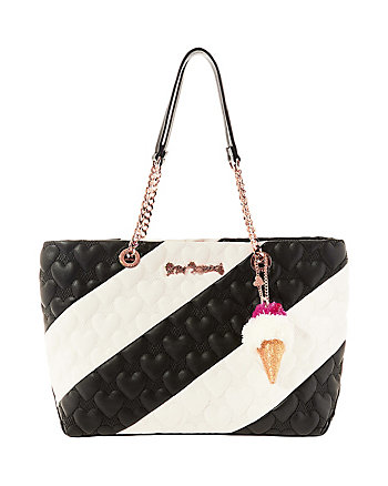 SPLIT DECISION QUILTED HEART TOTE