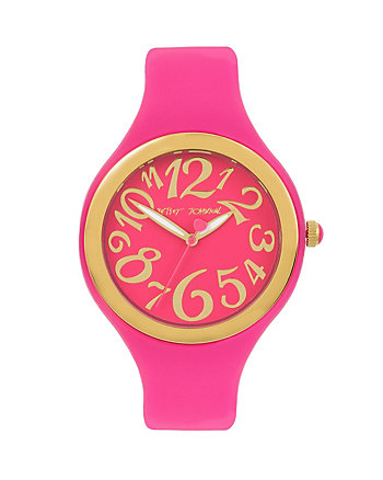 SPORTY BETSEY PINK SILICONE BOXED WATCH