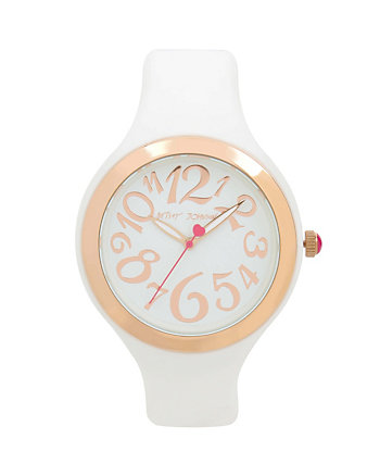 SPORTY BETSEY WHITE SILICONE BOXED WATCH