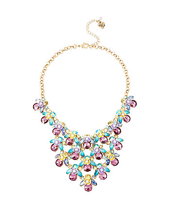 SPRING AHEAD FLOWER BIB NECKLACE