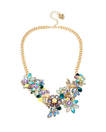 SPRING AHEAD FLOWER FRONTAL NECKLACE