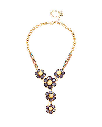 SPRING AHEAD FLOWER Y NECKLACE
