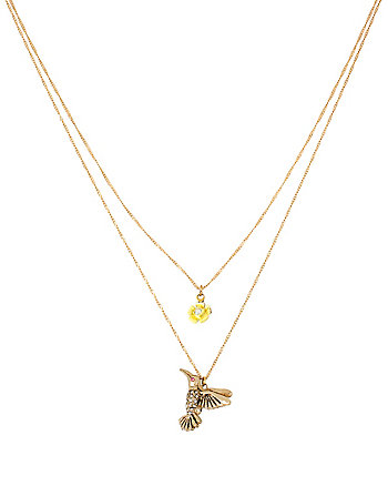 SPRING AHEAD HUMMINGBIRD 2 ROW NECKLACE