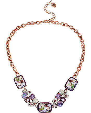 SPRING FLING LARGE PURPLE STONE NECKLACE