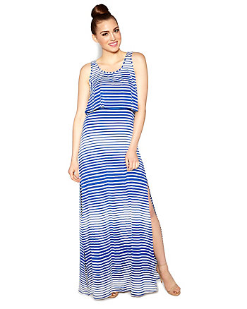 SPRING STRIPE MAXI DRESS