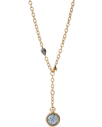 STARGAZER LONG GOLD PENDANT NECKLACE