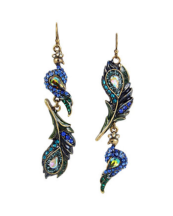 STATEMENT CRITTERS PEACOCK DROP EARRINGS