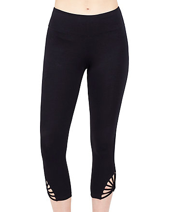 STRAPPY SUNBURST CROP LEGGING