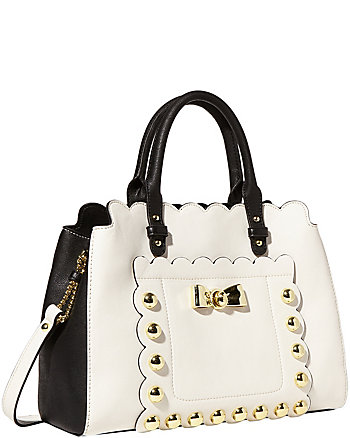 STUDDED AFFAIR SATCHEL