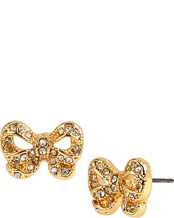 SUGAR CRITTERS GOLD BOW STUDS