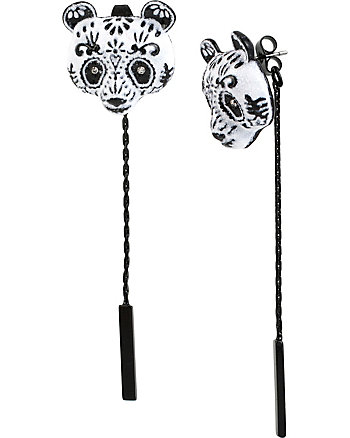 SUGAR CRITTERS SUGAR PANDA FRONT AND BACK EARRINGS