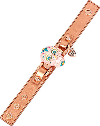 SUGAR CRITTERS SUGAR SKULL LEATHER BRACELET