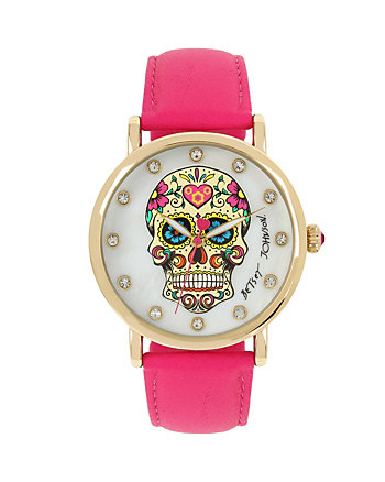 SUGAR SKULL PINK WATCH