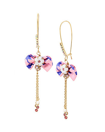 SUMMER FLOWERS BOW EARRINGS