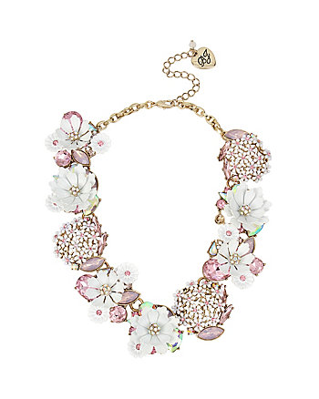 SUMMER FLOWERS STATEMENT NECKLACE