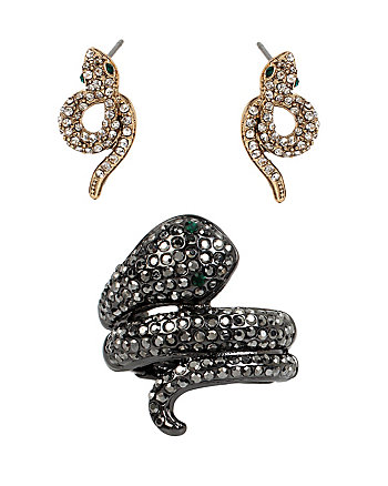 SUPER SETS SNAKE RING AND EARRINGS