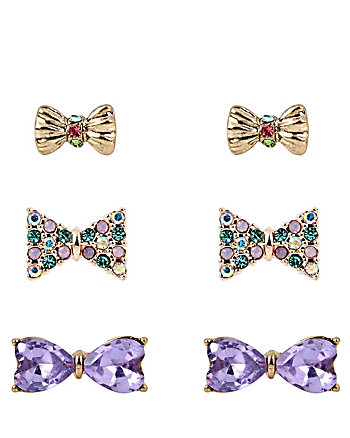 SWEET SHOP BOW STUD EARRING SET
