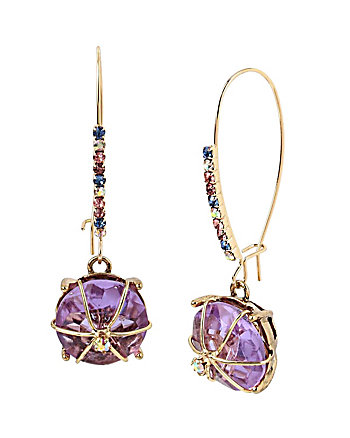SWEET SHOP HARD CANDY PURPLE EARRINGS