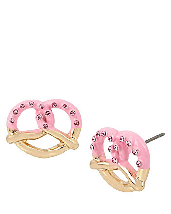 SWEET SHOP PRETZEL STUD EARRINGS