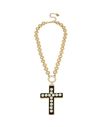 THROWBACK TO VINTAGE BJ CROSS PENDANT