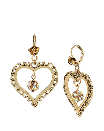 THROWBACK TO VINTAGE BJ HEART DROP EARRINGS