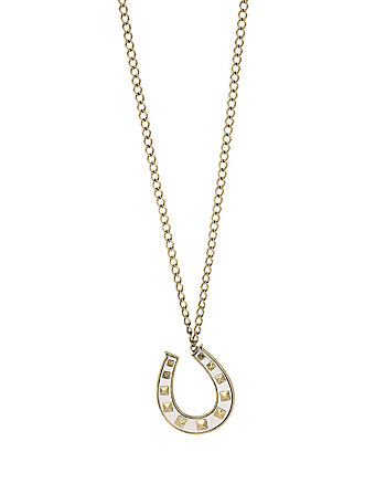 THROWBACK TO VINTAGE BJ HORSESHOE PENDANT