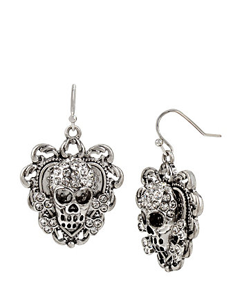 THROWBACK TO VINTAGE SKULL EARRINGS
