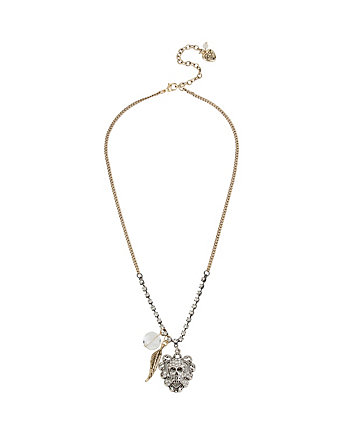 THROWBACK TO VINTAGE SKULL NECKLACE