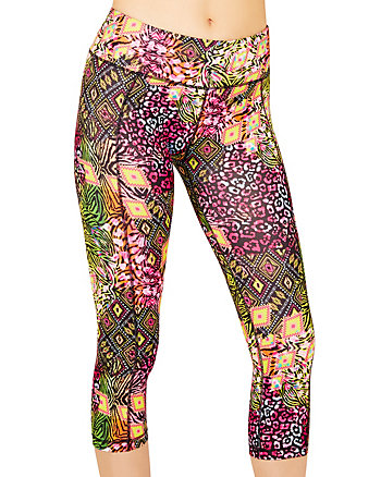 TRIBAL CHEETAH PRINTED CROP LEGGING