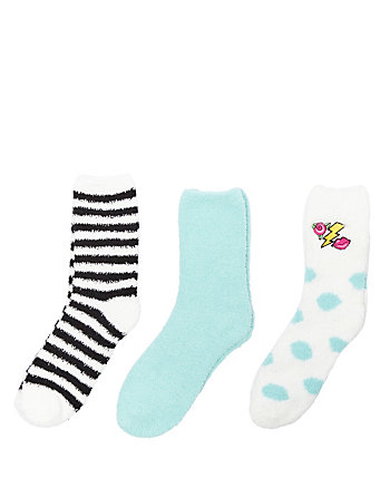 TRIPLE EMOJI COZY SOCK THREE PACK