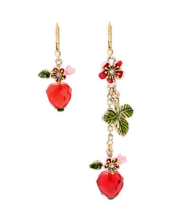 TROPICAL PUNCH CHERRY MISMATCH EARRINGS
