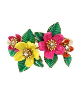 TROPICAL PUNCH FLOWER BANGLE