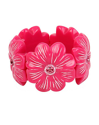 TROPICAL PUNCH FLOWER STRETCH BRACELET