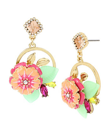 TROPICAL PUNCH HIBISCUS EARRINGS