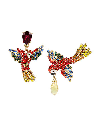 TROPICAL PUNCH PARROT MISMATCH EARRINGS