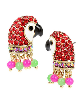 TROPICAL PUNCH PARROT STUD EARRINGS